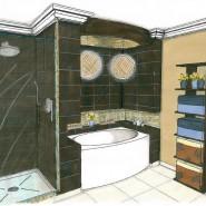 Croquis salle de bains
