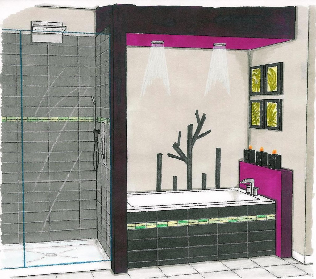 Croquis salle de bains ren guillemette r novations for Croquis salle de bain