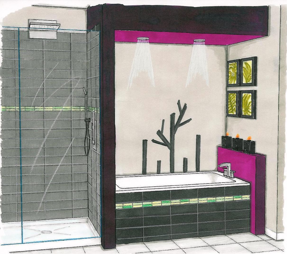 Croquis salle de bains ren guillemette r novations for Croquis de salle de bain